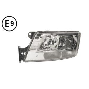 FARO SINISTRO ELETTRICO-MOTORE-LED PARKING-SENZA-LAMPADINA(H7-H7-LED)OMOLOGATO-E9 MAN-TGS-EURO-6 21011105D