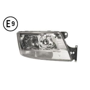 FARO DESTRO ELETTRICO-MOTORE-LED-PARKING-SENZA-LAMPADINA(H7-H7-LED)OMOLOGATO-E9 MAN-TGS-EURO-6 21011106D