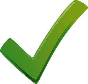 green checkmark vector symbol